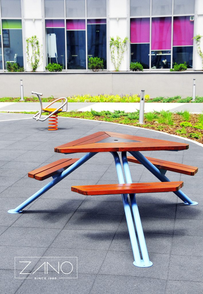 Mars Picnic Table From ZANO Street Furniture - Spruce picnic table